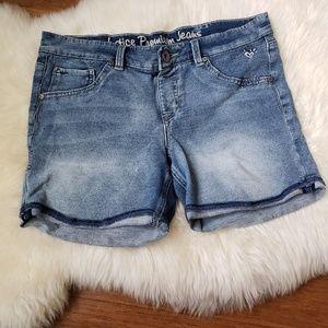Justice Premium Jean Distressed Denim Shorts